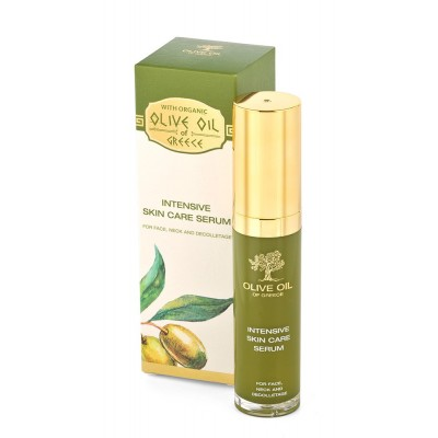 Intensive skin care serum for face, neck and decolletage Olive Oil of Greece