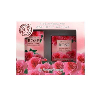 "Gift set ""Aroma Essence Rose parfume 12ml+soap"""