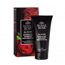 """Shower gel & shampoo & Face wash gel for men """"Royal Rose"""""""