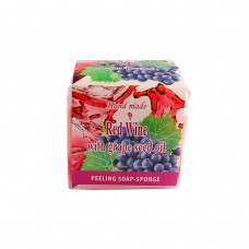 "Peeling soap-sponge ""Red Wine with grape seed oil"" 80gr"
